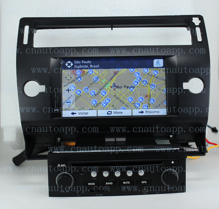 buy citroen c4 dvd gps in dash car dvd player gps radio system for citroen c4. Black Bedroom Furniture Sets. Home Design Ideas
