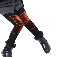 Child Winter Pants Thickening Girls Leggings Cartoon Pattern For 4 13 Years Old Kids Warm Trousers