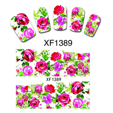 Pretty Flowers Nail Nail Decals Wrap Water Transfer Stickers Decoration Manicure Hot Easy DIY Nail Beauty