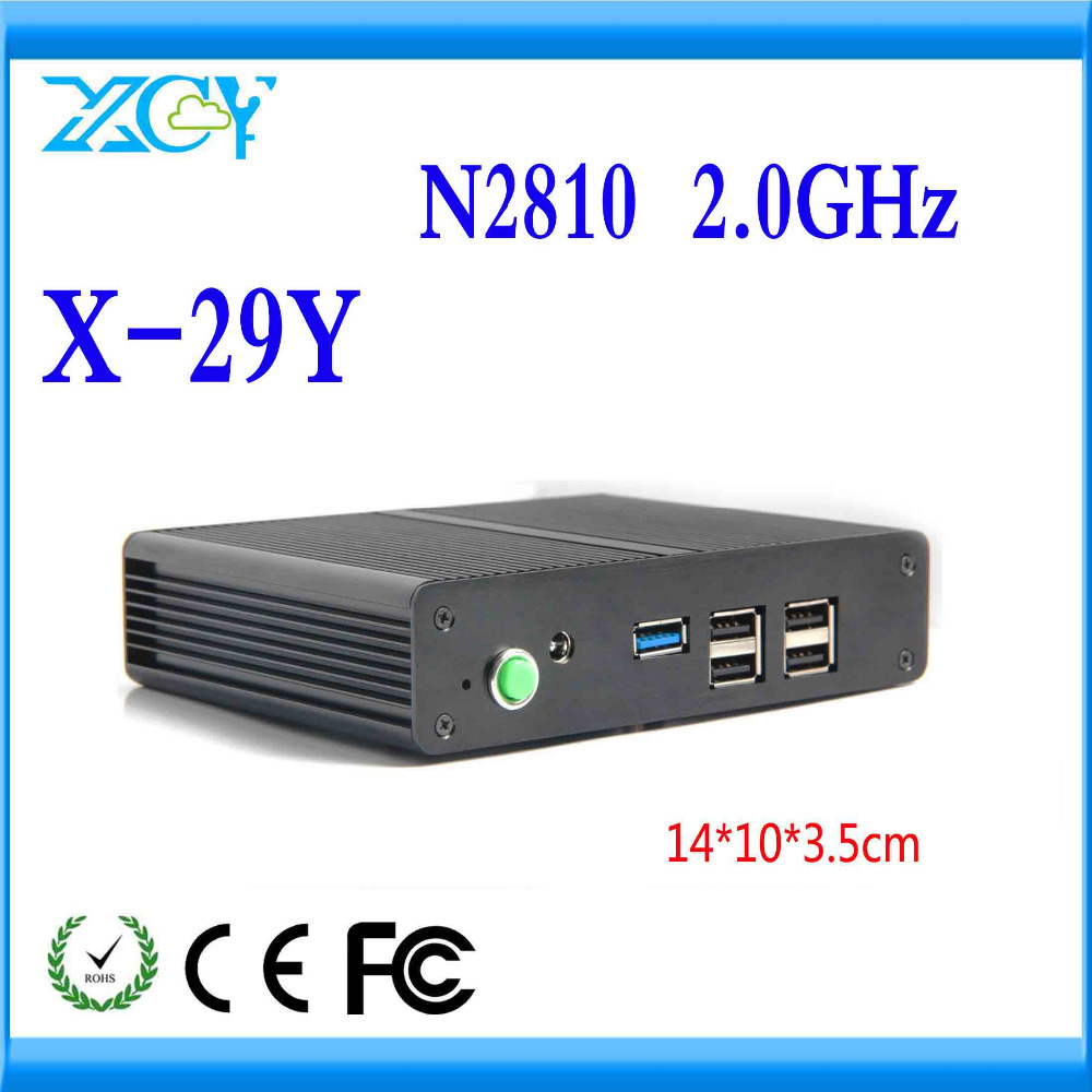 Most powerful thin client pc x-29y N2810 fanless desktop motherbaord win7 server low heat no noise pc(China (Mainland))