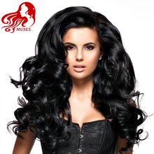 Brazilian Virgin Hair Lace Front Human Hair Wigs Body Wave Natural Black Glueless Full Lace Human Hair Wigs For Black Muses(China (Mainland))