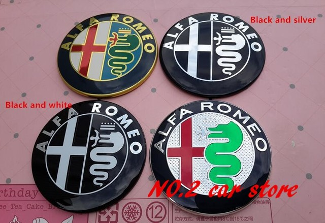 2pcs  2016 new style Specials sale 7.4cm ALFA ROMEO Car Logo emblem Badge sticker for Mito 147 156 159 166