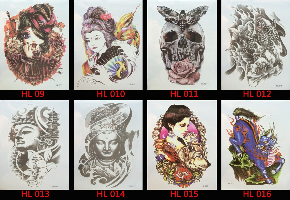Hot 3D tattoos one-time temporary tattoos Arm flower tattoo waterproof female body art tattoo model AW – 012