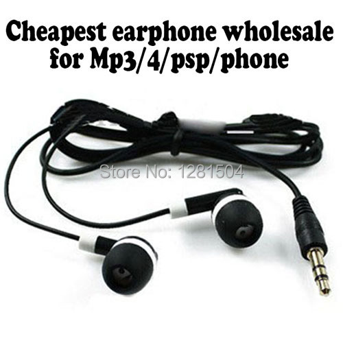 Wholesale 300pcs/lot Cheapest Disposable Earphones for bus or train or plane for gift for Museum for Concert For School(China (Mainland))