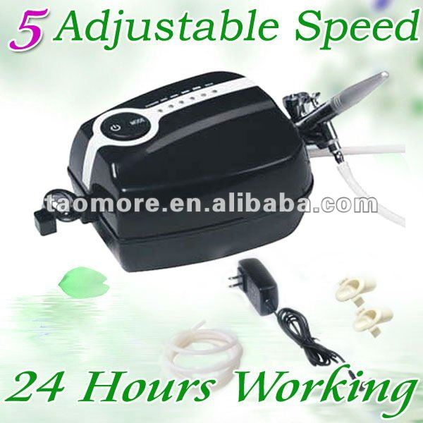 Portable Makeup System Airbrush tattoo Compressor Spray gun kit 5 Speed 24 hours Continus Working  Free shipping<br><br>Aliexpress