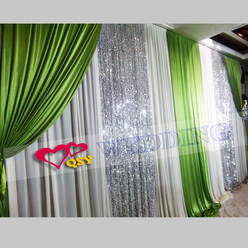 wedding backdrop curtain green style wedding party backdrop curtains