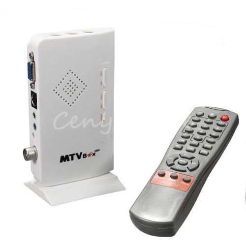 LCD VGA External TV PC BOX Digital Program Receiver Tuner HDTV HD 1080P+Speaker(China (Mainland))