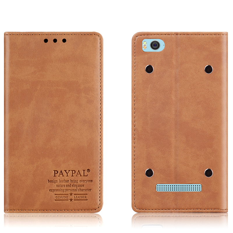 Superior Quality Genuine leather case For Xiaomi mi4c mi4i phone cover(China (Mainland))
