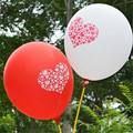 100Pcs Lot Heart Dot Balloons Smiley Face Expression Red White Pink Latex Balloons Party Wedding Ballon