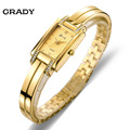 New Brand Grady fashion 18k Gold plated women watches 3atm waterproof ladies Quartz Watch Women Wristwatches