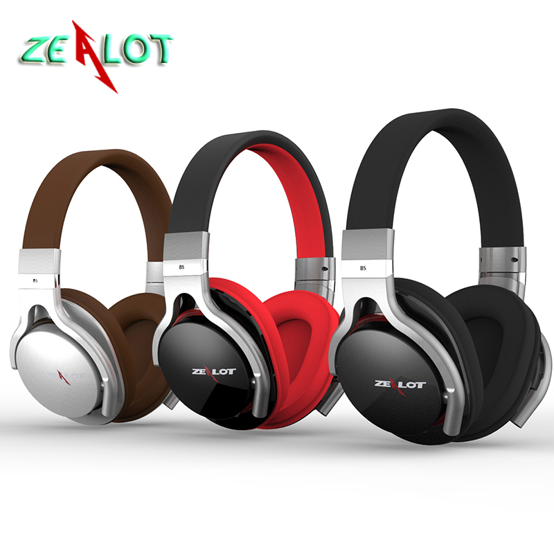 HiFi Noise Cancelling Zealot B5 Wireless Bluetooth Earphone Headphone Stereo Headset With Mic, FM Radio, Built-in TF Card Slot