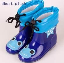Moda Çocuk ayakkabıları Su Geçirmez Rainboots PVC kauçuk Erkek Kız Bebek Karikatür ayakkabı Antiskid Çocuklar su ayakkabısı 020(China)