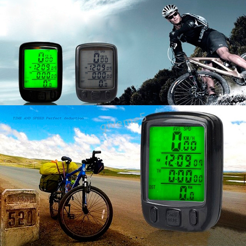 Multifunctional Wireless Bicycle Odometer Speedometer Bike Cyclometers with Waterproof Touch LCD screen(China (Mainland))