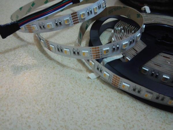 24v rgbw led strip SMD rgbw 4 chip per led 60led per meter 10mm width flexible led tape light(China (Mainland))