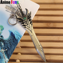 Buy 12cm Game League Legends Sword Model Arbitration Paladin Kodiak Toth Weapon Keychain LOL Aatrox Charm keyring drop for $1.85 in AliExpress store