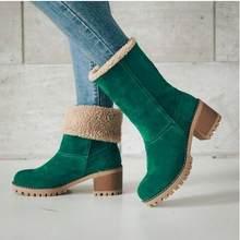 Neue Frauen Stiefel Winter Im Freien Warm Halten Pelz Stiefel Wasserdicht frauen Schnee Stiefel Starke Ferse Mit Runden Kopf Kurze boot(China)