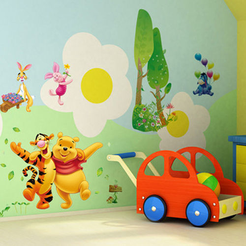 Winnie pooh tigger friends decals decor wall sticker for Baby pooh and friends wall mural