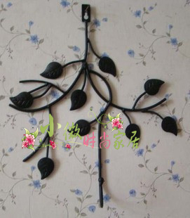Fashion wrought iron furniture rustic iron hook coat hooks clothes hanging hook wall hook