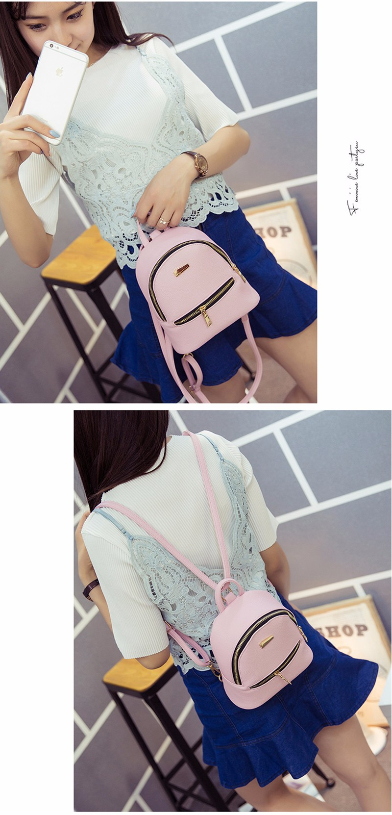 Small Fashion Rucksack Hotsale Women Shopping Purse Ladies Joker Bookbag Travel Bag Student school Backpacks Mini Women Backpack 5