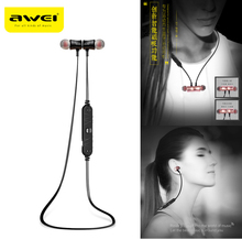 New Awei A921BL Super Bass Magnet Sports Wireless Earbuds Bluetooth Earphones Stereo Noise insulation Headset with Microphone