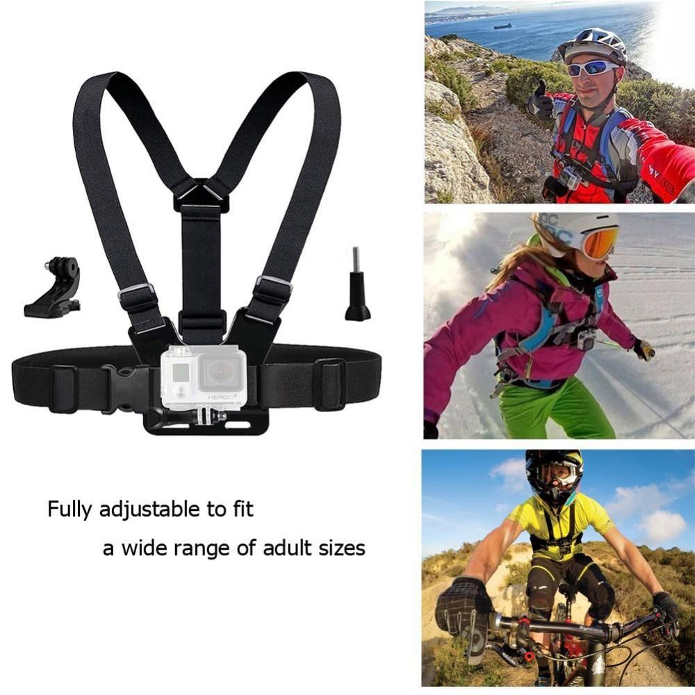 Accessories Chest Head J Mount Belt Strap for Gopro SJCAM SJ4000 xiaomi yi Eken H9 H9R H8R Go pro Action Camera accessories