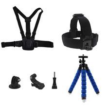 Buy Go pro Octopus Tripod Mini Monopod Chest Strap Belt Head Strap Mount Gopro Hero 5 4 3+ Xiaomi Yi 4K SJ4000 Action Camera for $10.99 in AliExpress store