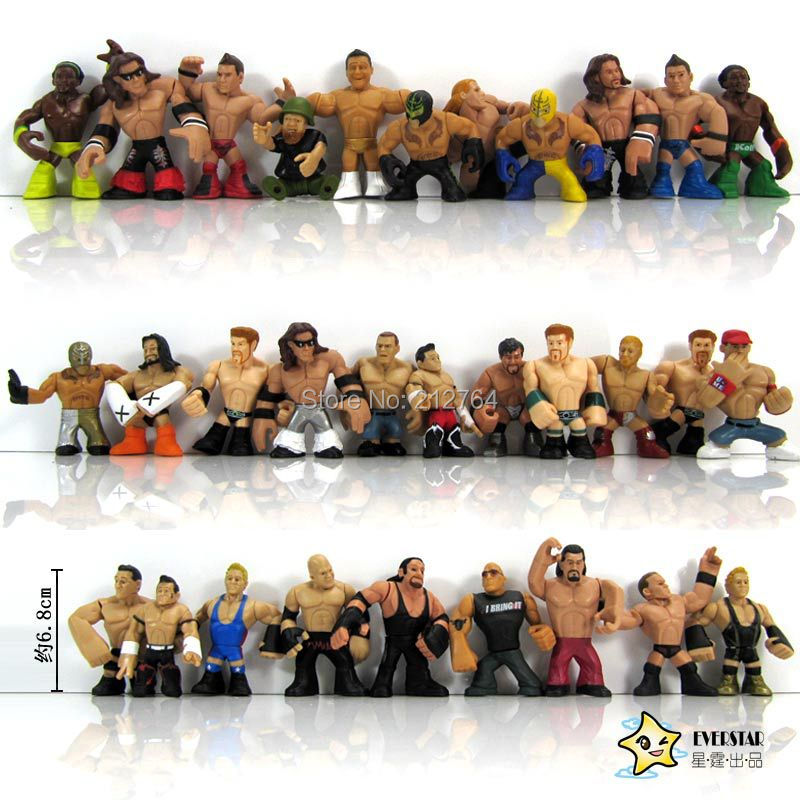 31pcs/lot Q version juguetes America occupation wrestling gladiators wrestler action figure toys doll for children New Year gift(China (Mainland))