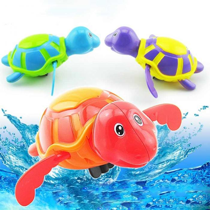 Swimming Wind Up Turtle Pool Animal Floating Toys For Baby Kids Bath Time Hot BG