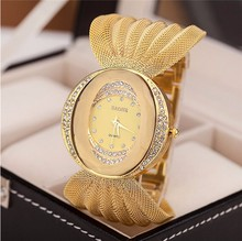 Brand Luxury New Fashion Women Watch Stainless Steel Strap Crystal Rhinestone BAOHE Analog Quartz Watch Casual