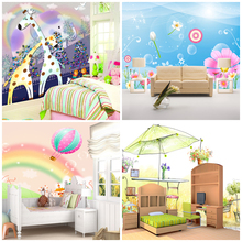 Square Meters baby mural abstract tv background wallpaper child frescol wall paper for kids  boy/girl bedroom decorative cartoon(China (Mainland))