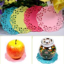 Cute Flower Shaped Colored 1pcs Silicone Flower Mug Coasters Mats Pad Cushion Drinks Tea Cup Holder Drink Tools Randomly Send(China (Mainland))