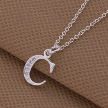 Top quality silver letter C - G Pendant & Necklace with zircon fashion wild style jewelry for women factory price(China (Mainland))