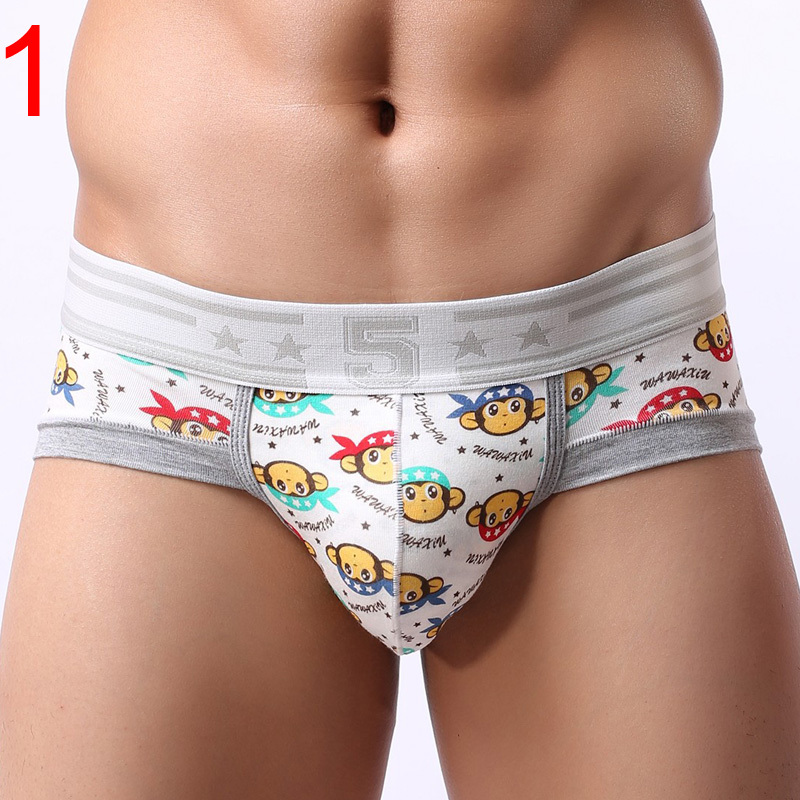 Men's Lovely Boxer Cartoon Pattern Cotton Breathable Health And Fitness Middle Rise Men Boxer Shorts Low Price MCUN11(China (Mainland))