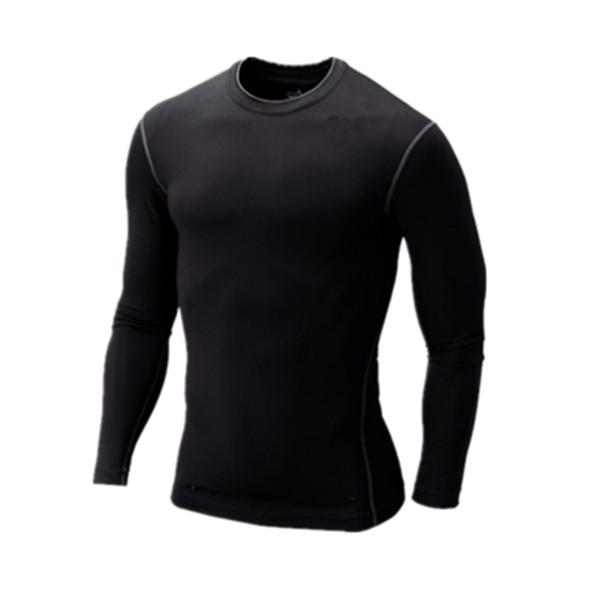 Boxing Gym T Shirt Men Tights Yoga Training Sport Long-sleeved T-shirt Sweat Quick Dry Men's T Shirts Fashion Basketball Clothes(China (Mainland))