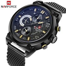 Buy 2017 NAVIFORCE Luxury Brand Men's Analog Quartz 24 Hour Date Watches Man 3ATM Waterproof Clock Men Sport Full Steel Wrist Watch for $27.99 in AliExpress store