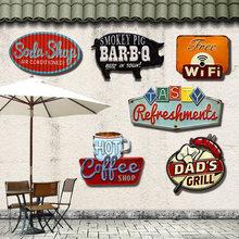 Retro Irregular Shade Metal Tin Signs For Bar Pub Cafe Hotel Garage Metal Art Wall Decor Sticker Poster Vintage Painting Plaque(China (Mainland))