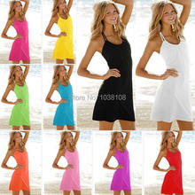 Free shipping new fashion europe and the United States the seaside beach dress sexy neck dress(China (Mainland))