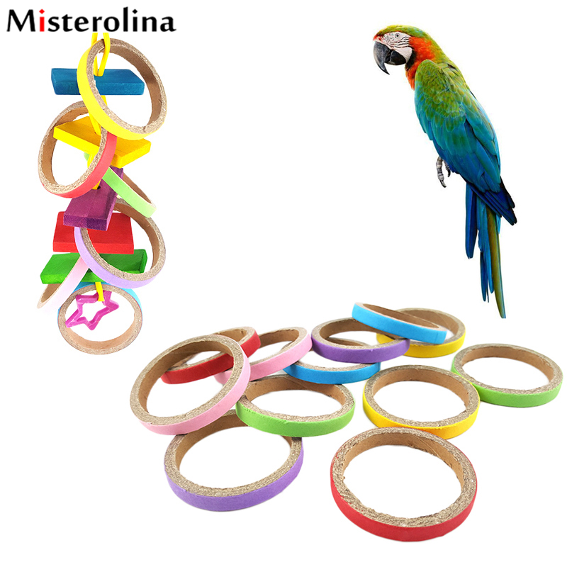Cheap Random Color 6cm Parrot Birds Toys Paper Ring For Bitting Pet Parrot Birds Toy Bird Accessories Tools Xp0370(China (Mainland))