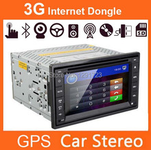 3G Internet Dongle Modem +GPS SD Map Included Car DVD Player 2 Din Car Radio Stereo Head unit Touchscreen Bluetooth Car Kit TV