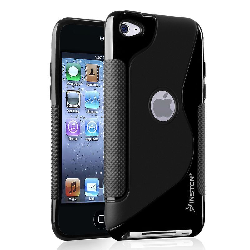 BLACK TPU Rubber Soft Silicone SKIN CASE COVER For Apple IPOD TOUCH 4G 4th GEN 4(China (Mainland))