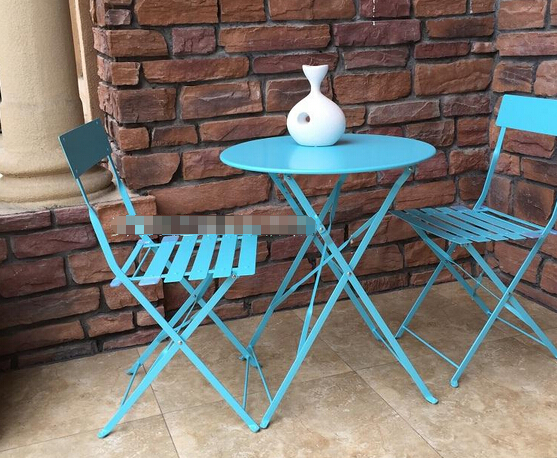 Outdoor Iron Garden Furniture 1 Round Table And 2 Chairs Lot Free Shipping