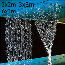 4.5M x 3M New Year Christmas Garlands LED String Christmas Lights Fairy Xmas Party Garden Wedding Decoration Curtain fairy Light(China (Mainland))