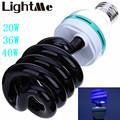 High Power LED Bulb AC 220V 20W 36W 40W E27 3000 3500LM Spiral Energy Saving Black