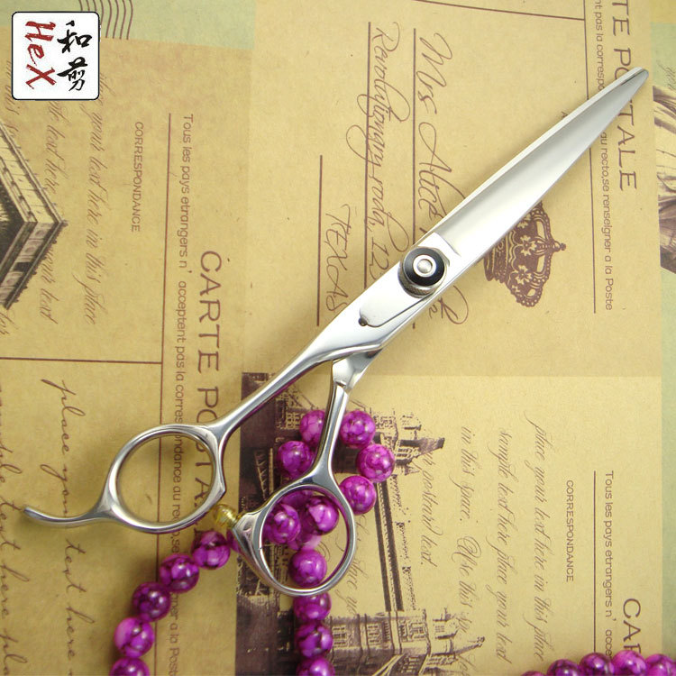 """5.5"""" Left handed hair scissors shears Japanese 440C"""