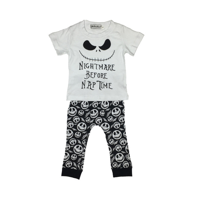 Baby boy/girl cotton letter printed short sleeved t-shirt+pants  2pcs