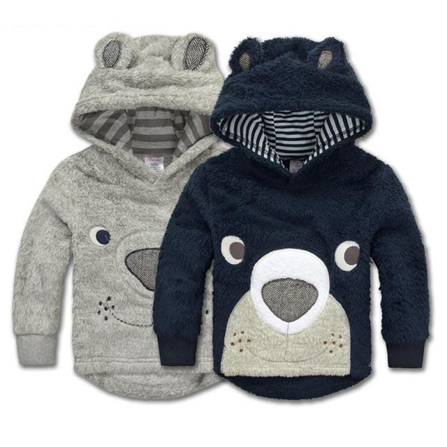 Momscare Младенцев Зимние Пальто Медведь Лицо Кораллов, Детская Пальто Детская одежда Зимняя Куртка Девушки Ребенок