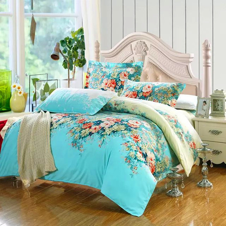On Sale 4pcs Wedding Bedding Set Cotton Bedding Set Queen Bed Sets Sheets Pillow Cases Duvet