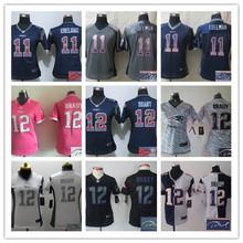Signature 2016 Women Ladies New England /,12 Tom Brady 87 Rob Gronkowski 11 Julian Edelman camouflage(China (Mainland))