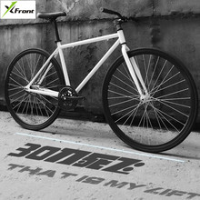 Buy New X-Front brand fixie Bicycle Fixed gear bike 50cm DIY single speed inverter ride road bike track fixie bicycle colorful bike for $240.33 in AliExpress store