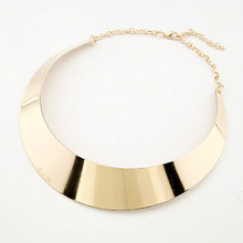 (Min.order  $10,mix order)  Hot Sale New Arrival Gold Plating Punk Style Chocker Necklace Jewelry Collar Necklace Free Shipping